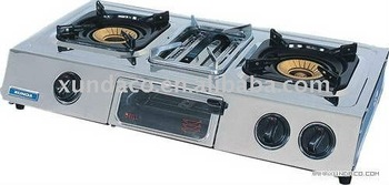 Multi Function Table Top Gas Stove Gas Cooker With Grill