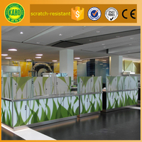 Resistant to scratch digitally printed on glass office glass partition panel for office room dividers