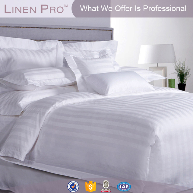BV Certified 100 Cotton White 3 5 Star Hotel Linen White,egyptian Cotton  Jacquard Fabric