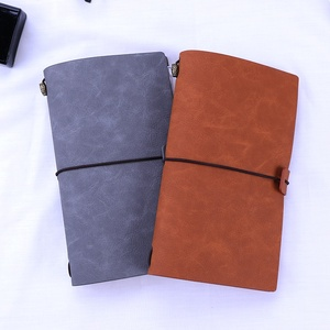 2019 Wholesale personalized leather pocket agenda eco notebook gift set with pen