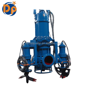High Chrome electric submersible sand dredge slurry pump with agitator