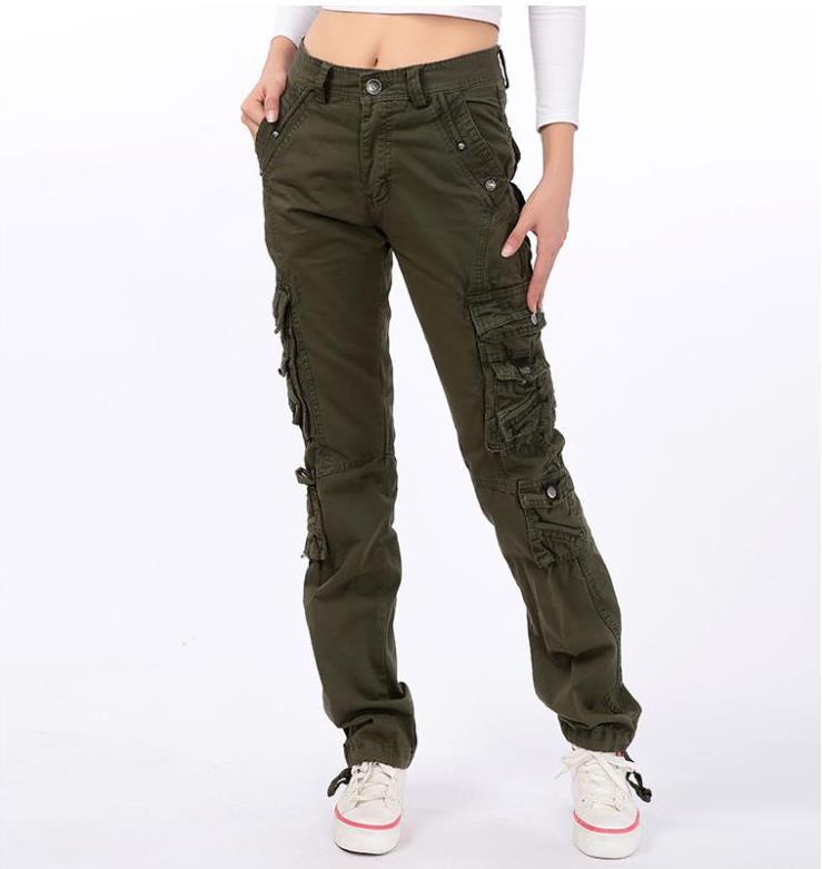81145d5410c6 Get Quotations · 2015 Winter Women outdoor sport joggers cargo pants Ladies  overalls Military trousers Loose Straight wide leg