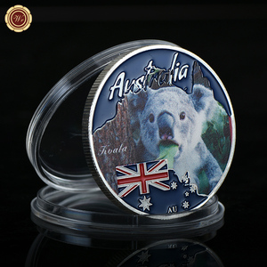 Collect Novelty Antique Australia Maine Souvenirs Koala Coin Silver Coin Packing with Free Clear Plastic Coin Case