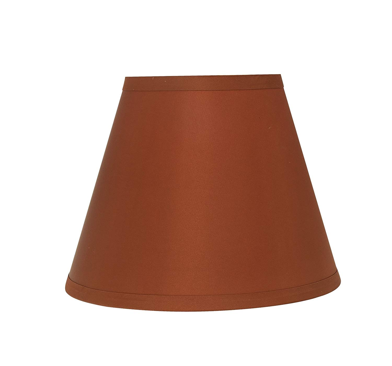 """Aspen Creative 32418 Transitional Hardback Empire Shaped Spider Construction Lamp Shade in Redwood, 9"""" Wide (5"""" x 9"""" x 7"""")"""