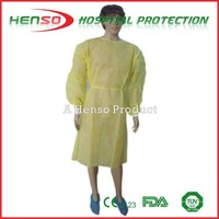 HENSO Disposable Yellow Isolation Gown