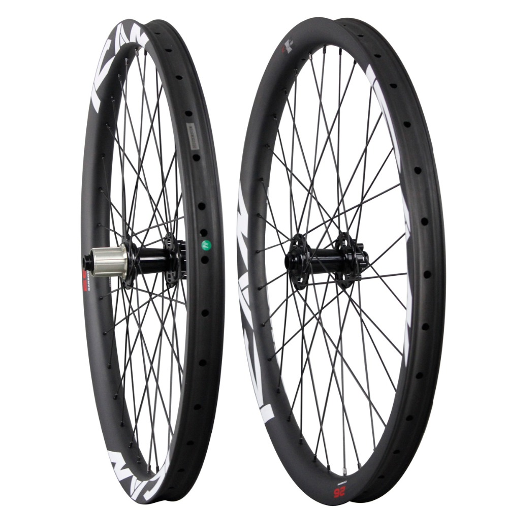 Bulk bike parts downhill mountain wheels carbon fiber china mtb bike wheel all mountain bicycle wheelset AM260-38TL