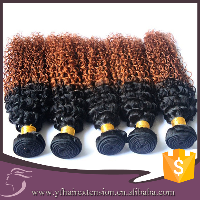 1b 30 Ombre Color Kinky Curl Peruvian Hair Cheap, GZ Hot Beauty Peruvian Hair, Peruvian Braiding Hair