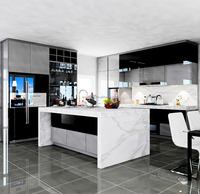 China supplier lacquer modular kitchen, home integrated kitchen furniture