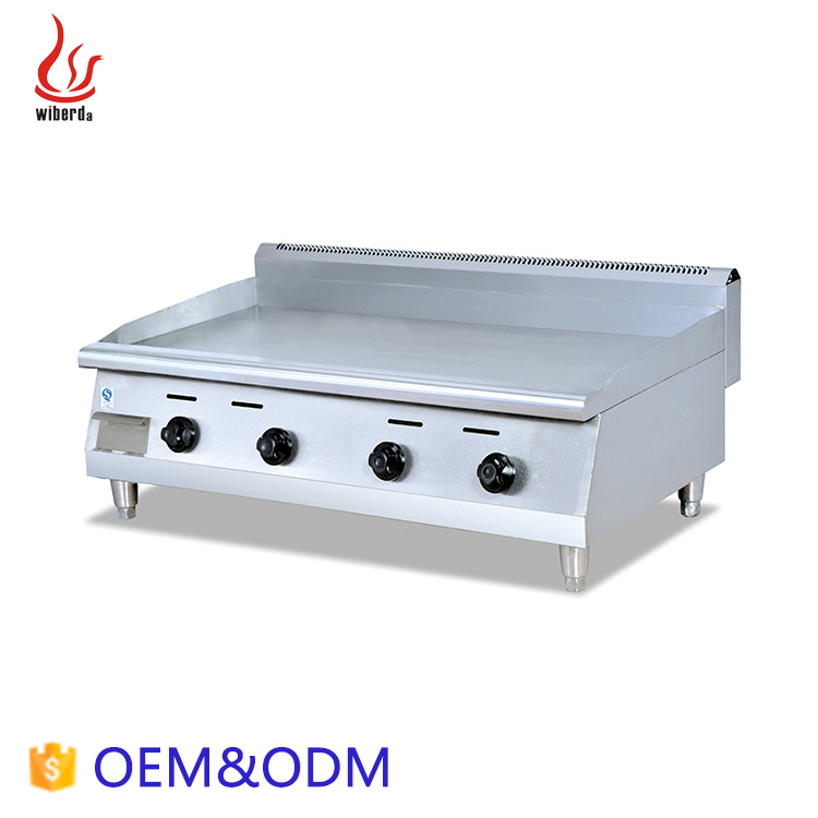 Junjian Kitchen Equipment & hotel Equipment all flat counter stainless steel commercial griddle