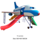 Slides of airplane shape, outdoor playground