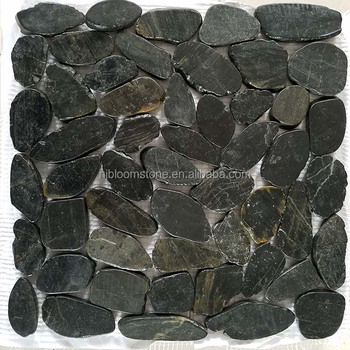 Black Pebbles Stones Floor Tile