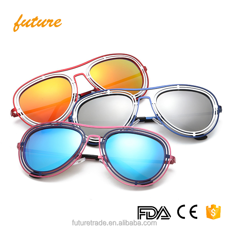 Future Newest Design Alloy Triple Frame Polarized Lenses Traveling Shade Fashionable Aviator Sunglasses UV400 Gafas De Sol 2017