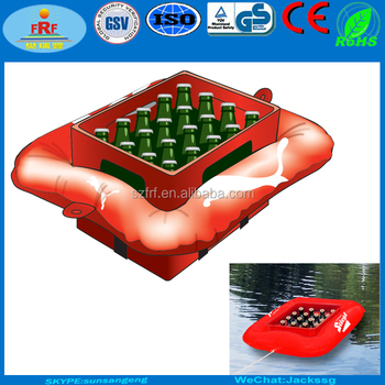 Inflatable Beer Crate Float, Inflatable Crate Cooler Holder Float