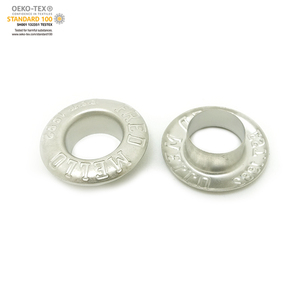 Garment eyelet metal eyelet button