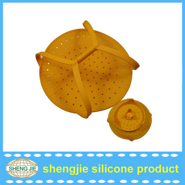 Eco-friendly portable Chinese silicone travel food steamer from Shengjie Rubber Product Factory