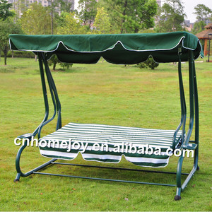 Luxury outdoor patio sofa bed, swing sofa with canopy