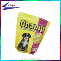 Stand up bag with zip lock for dog food