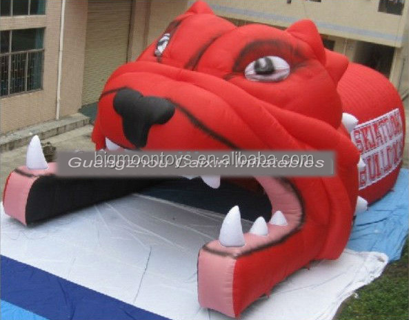 Giant Inflatable tiger head entrance mascot Tunnel for football sports