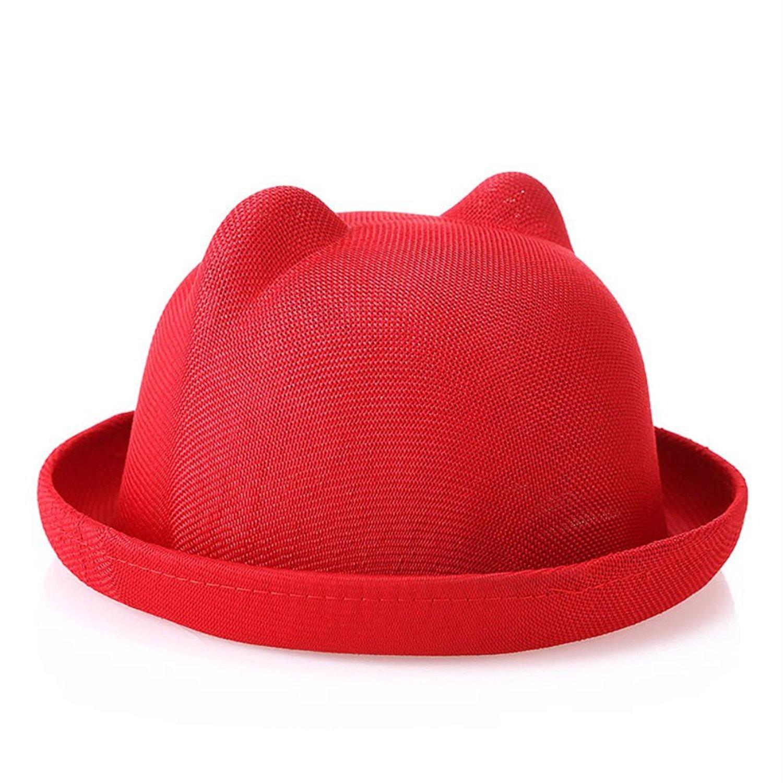 746b5da8b06 Get Quotations · Women Summer Cute Roll-up Brim Fedora Hat Sun Hat Straw
