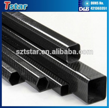 Customize thickness and size carbon fiber bent tubes threaded cf tube