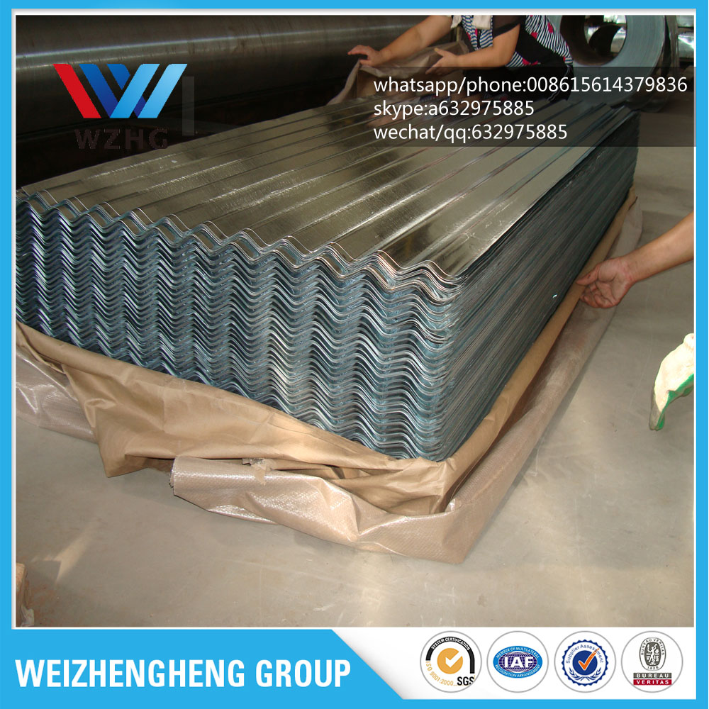 0.12mm 0.14mm 0.16mm Galvanized Corrugated Roofing Steel Sheets