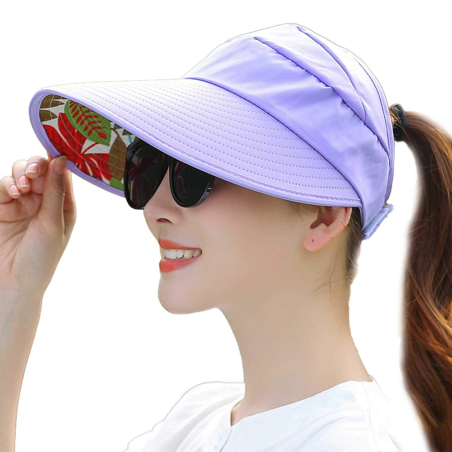 Get Quotations · Mainstream Hat Female Summer Leisure Wild Tide UV Korean  Spring and Summer Collapsible Sun Hat Sun 56d5e07007fe