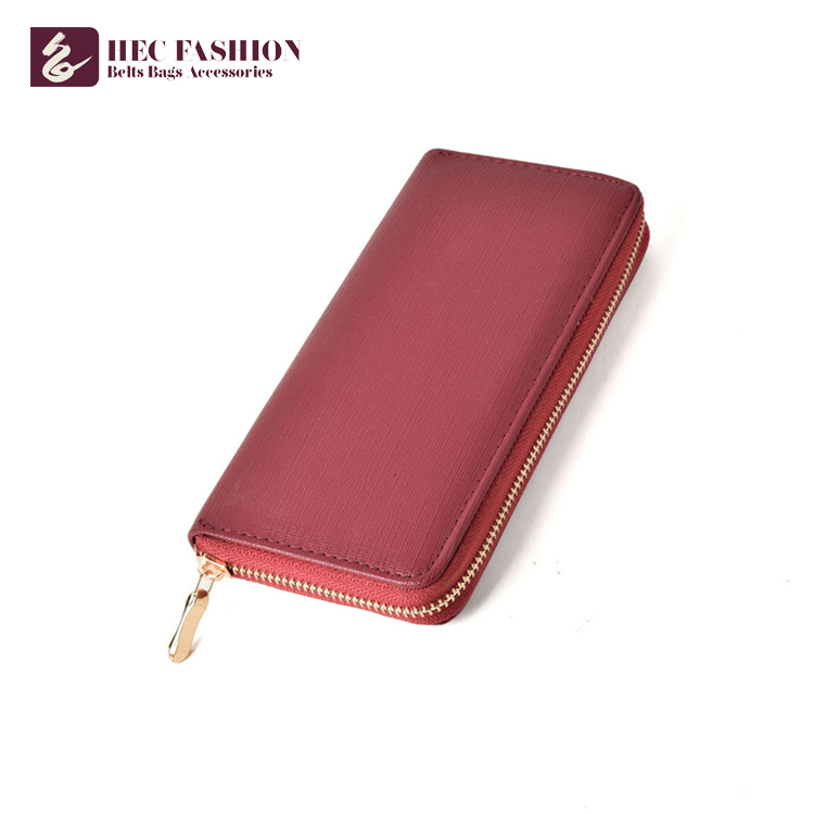 HEC Latest Design Women Pu Material Wallet Ladies Hand Purse