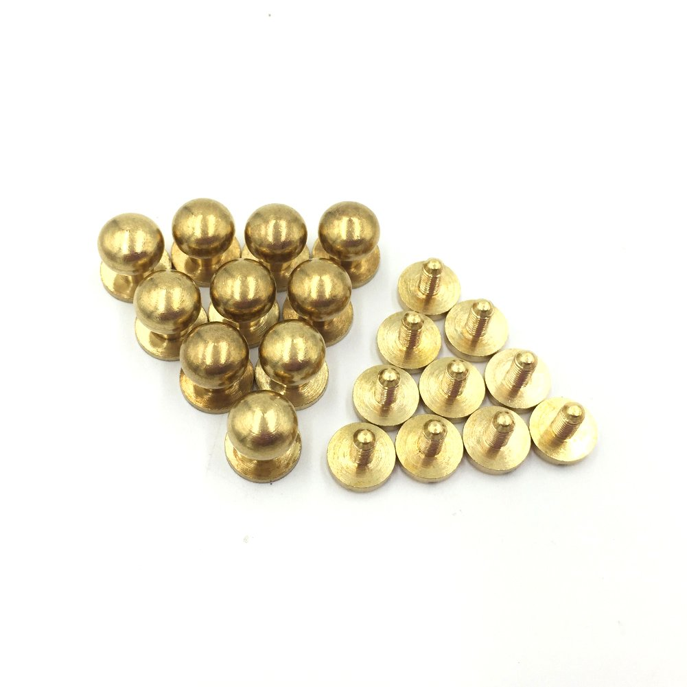 Sam Browne Solid Brass Button Stud Rivet Screwback Screw Back Spots Leathercarft
