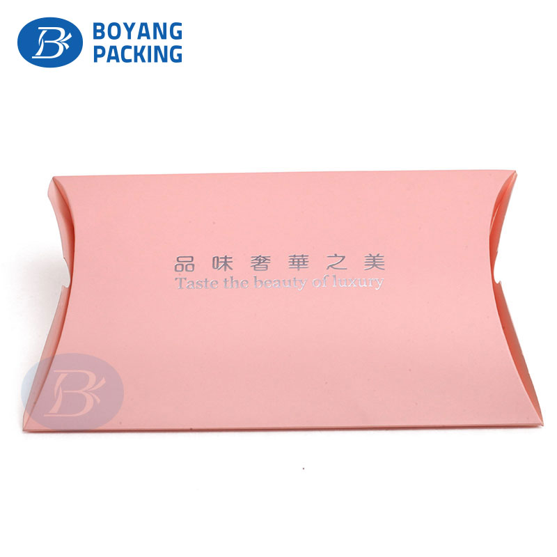 Wholesale Custom logo printing christmas jewelry Gift case small kraft Paper Pillow Box packaging