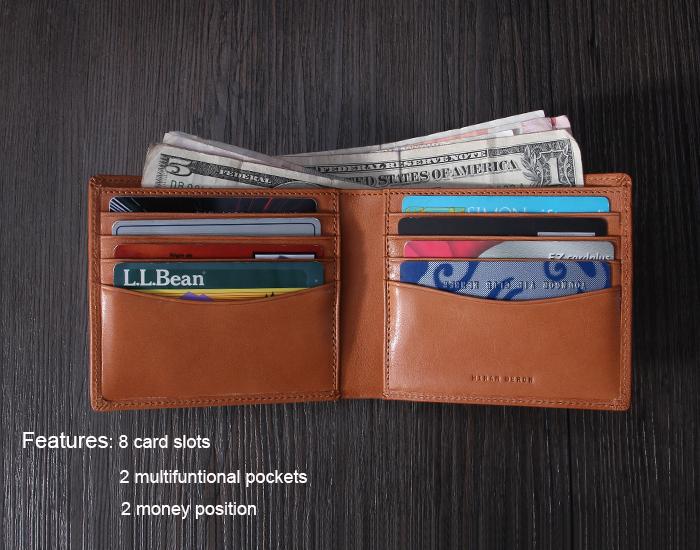 Handmade Italian Leather Rfid Blocking Wallet Classical Bi-fold ...