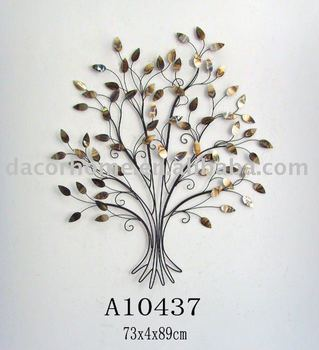 Metal tree wall art buy wall art metal wall art iron - Decoration murale en metal design ...