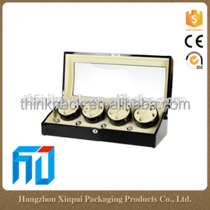 China wholesale wooden watchboxes glossy automatic watch winder