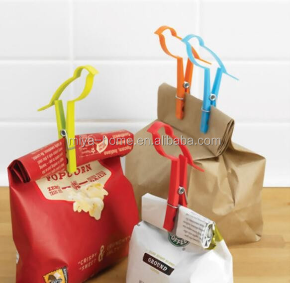 Lovely birds shape plastic bag clip / bread clip