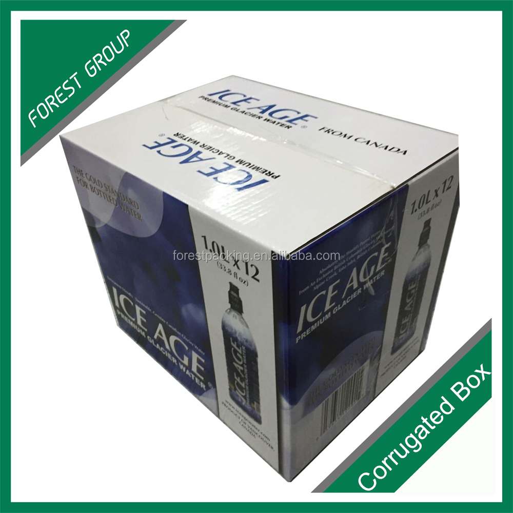 corrugated paper recyclable maeterial OEM water bottle carton box packaging