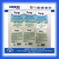 China SGS ISO certification gold supplier manufacturer IML label / in mold sticker label printing for baby care packaging