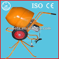 Electric small concrete mixer with plastic drum