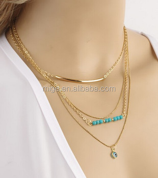 Yiwu factory wholesale gold chain 3 layers evil eye pendant necklace yiwu factory wholesale gold chain 3 layers evil eye pendant necklace for women n2780 aloadofball Gallery