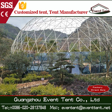Yurt 20m Tempered glass sphere house geodesic dome tents 4 season hot sale