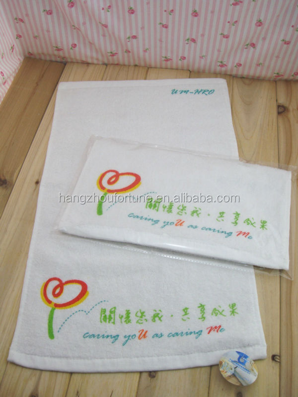 pigment printing custom logo gym towels