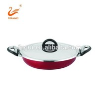 High quality aluminum non stick ceramic stone coating double ear wok pan