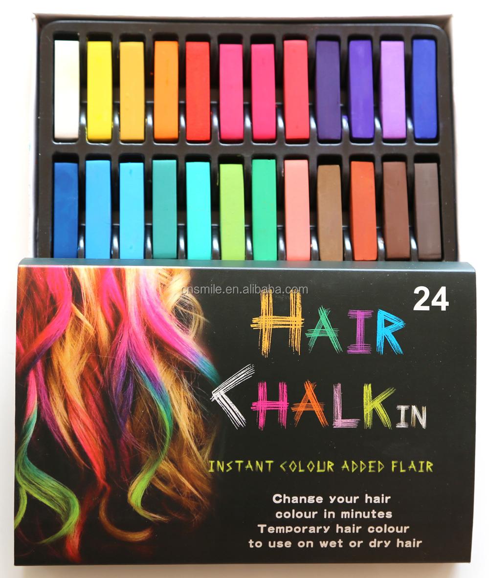 Harga Pabrik Ramah Lingkungan 12 Warna Rambut Kapur Hair Chalk Pewarna 24 Temporer Untuk Sementara Dalam