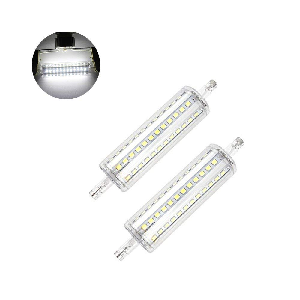 BAILIDA 2-pack 10W R7S Base LED Light Bulb J118 Double Ended J type LED Replacement for Flood Lamp Daylight White