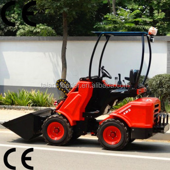 Small Garden Lawn Mower Tractor Dy620 Mini Front Loader With Tire