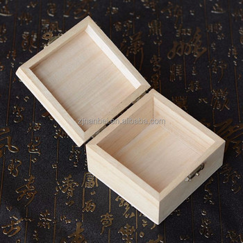 Unfinished Hinged Lid Small Wooden Boxes For Storage Buy