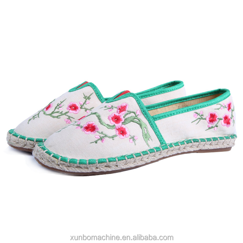 2017 Spring leisure and healthy Chinese national wind shoes embroidered with plant for girls