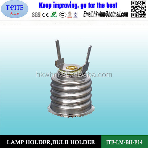 ROHS approved E14 screw type lamp holder,bulb holder