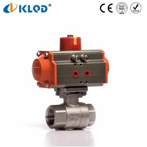 Made in China Pneumatic 2 PC Stainless Steel Ball Valve