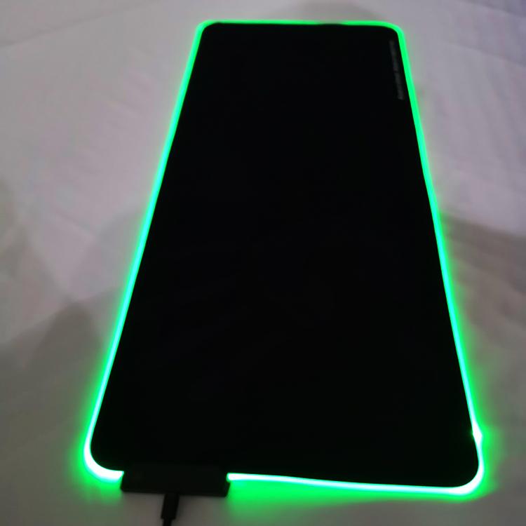ขนาดใหญ่ RGB LED แผ่นรองเม้าส์ 7 โหมดกระพริบ gaming Mouse pad ยางนุ่มลื่น Gaming เมาส์ pad