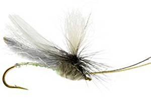 RiverBum Headlight Caddis, Grey Fishing Fly Headlight Caddis, Grey, Pack of 3