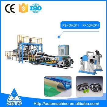 Automatic plastic extruder PS extruding making machines PP sheet machine